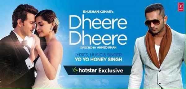 Yo Yo Honey Singh - Dheere Dheere - Aashiqui - Hrithik Roshan - Sonam Kapoor