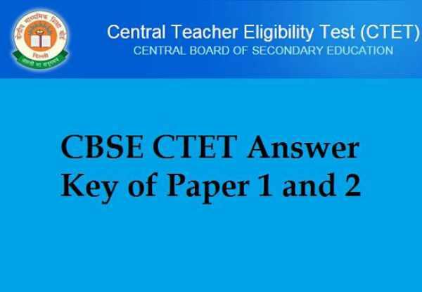 CBSE CTET Answer Key 2015 September