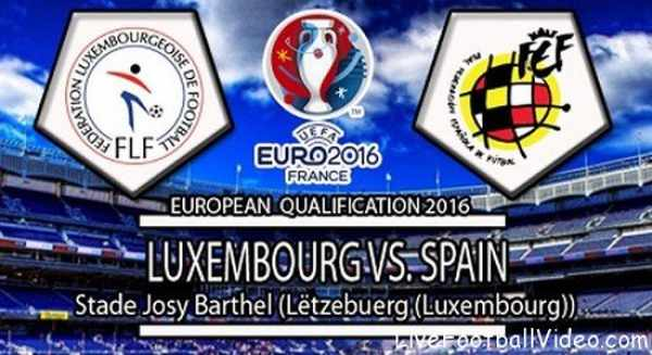 Spain vs Luxembourg Live Streaming