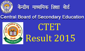 CBSE CTET Result 2015 September