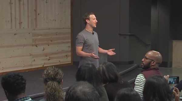 Mark Zuckerberg Holds Q&A Session At Town Hall IIT Delhi