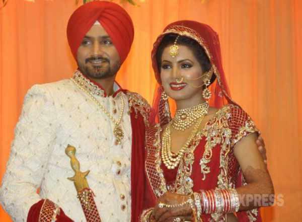 Harbhajan Singh-Geeta Basra wedding / marriage photos pictures