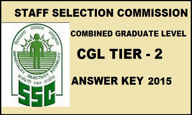SSC CGL Tier 2 Answer Key 2015