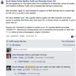 South Wales Police got an unexpected reply on post seeking information about suspect