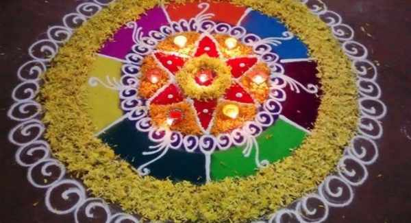 Diwali Rangoli Designs 2015: Beautiful Best Patterns, Images for Happy Deepavali 2015 Pictures
