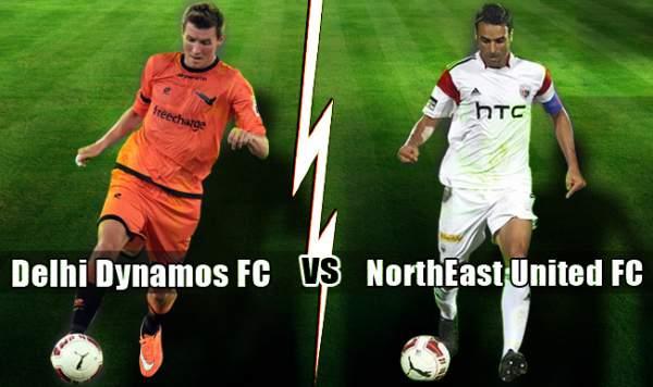 NorthEast United FC vs Delhi Dynamos FC Live Streaming