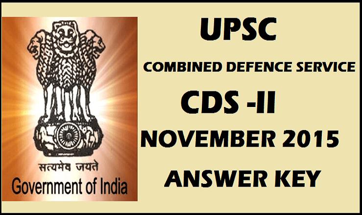 UPSC CDS 2 Answer Key 2015