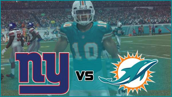 New York Giants vs Miami Dolphins Live Streaming