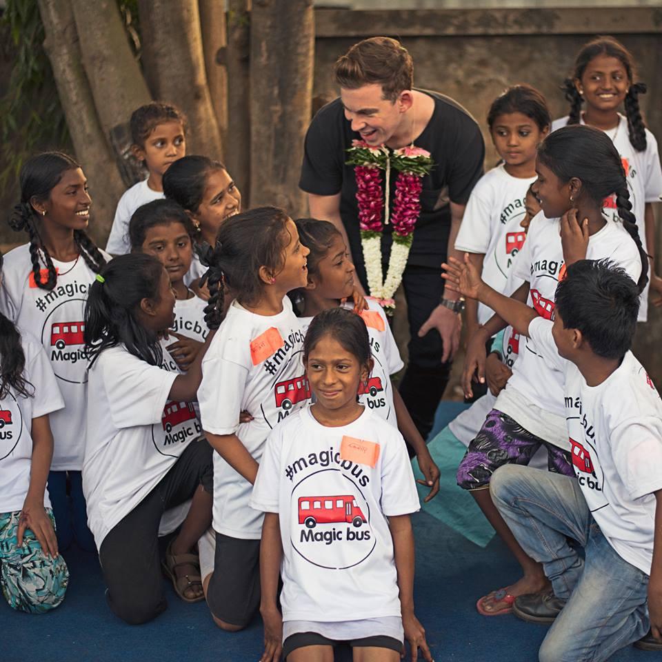 Hardwell met children from Magic Bus NGO