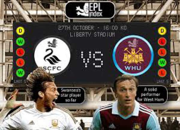 Swansea City vs West Ham Live Streaming