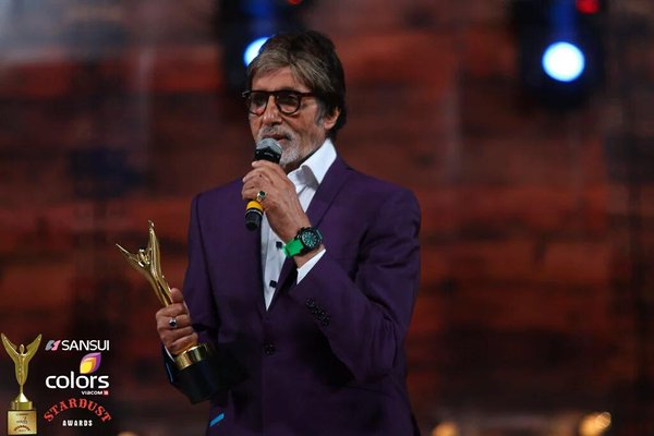 Amitabh Bachchan receives Best Actor of the Year award for his movie 'Piku'