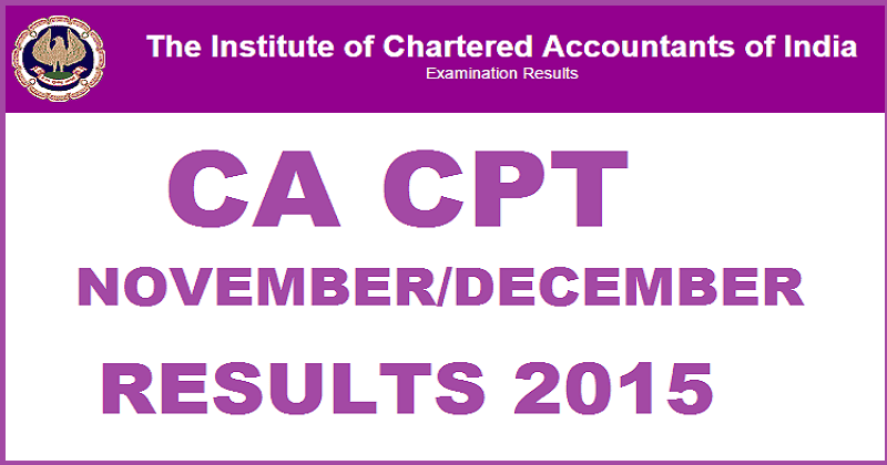 ICAI CPT & CA Final Results 2016