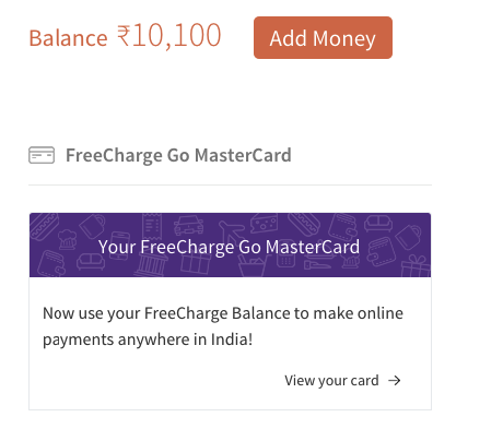 freecharge card