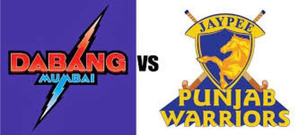 Jaypee Punjab Warriors vs Dabang Mumbai Live Streaming