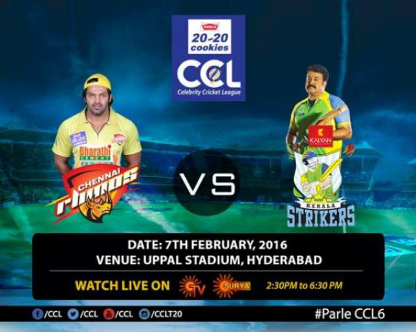 Chennai Rhinos vs Kerala Strikers Live Streaming