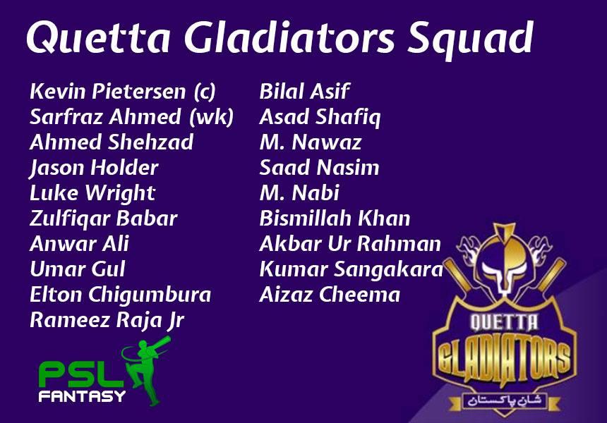 quetta squad