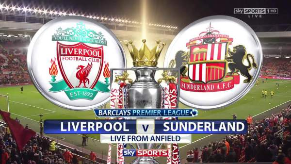 Liverpool vs Sunderland Live Streaming