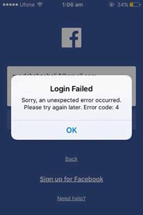 Facebook Down: FB App Users Unable To Login