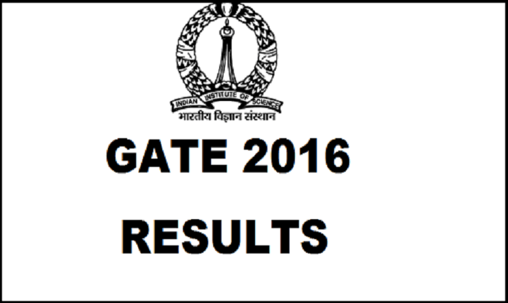GATE 2016 Result gate.iisc.ernet.in Cutoff Marks Scorecard