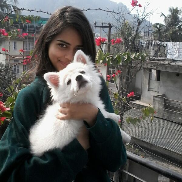 So Miss India also loves animals