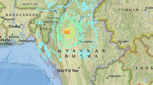 Earthquake in Myanmar