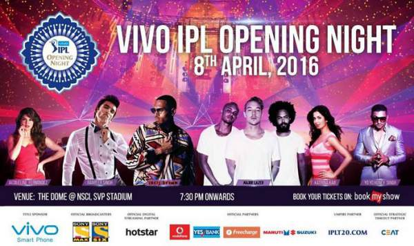 IPL 2016 Opening Ceremony Live Streaming