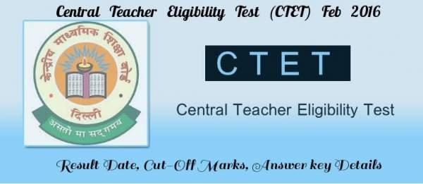 CTET 2016 Admit Card