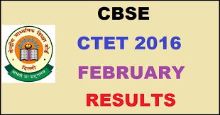 CTET February 2016 Result