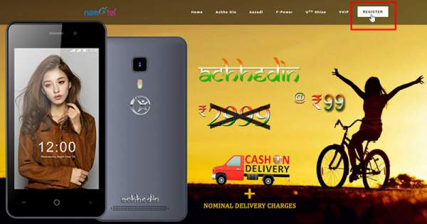 Namotel Achhe Din Rs 99 Mobile Phone Booking Online