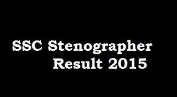 SSC Stenographer Result 2016