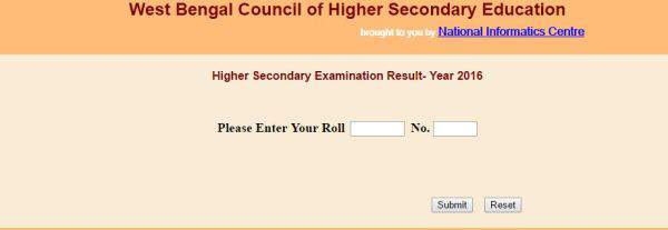 WBCHSE Class 12th Results 2016 WB Board HS Exam Result: Check at wbresults.nic.in wbbse.org