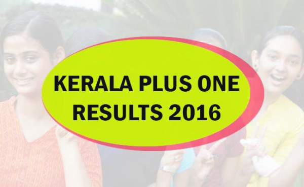 DHSE Kerala Plus One Result 2016