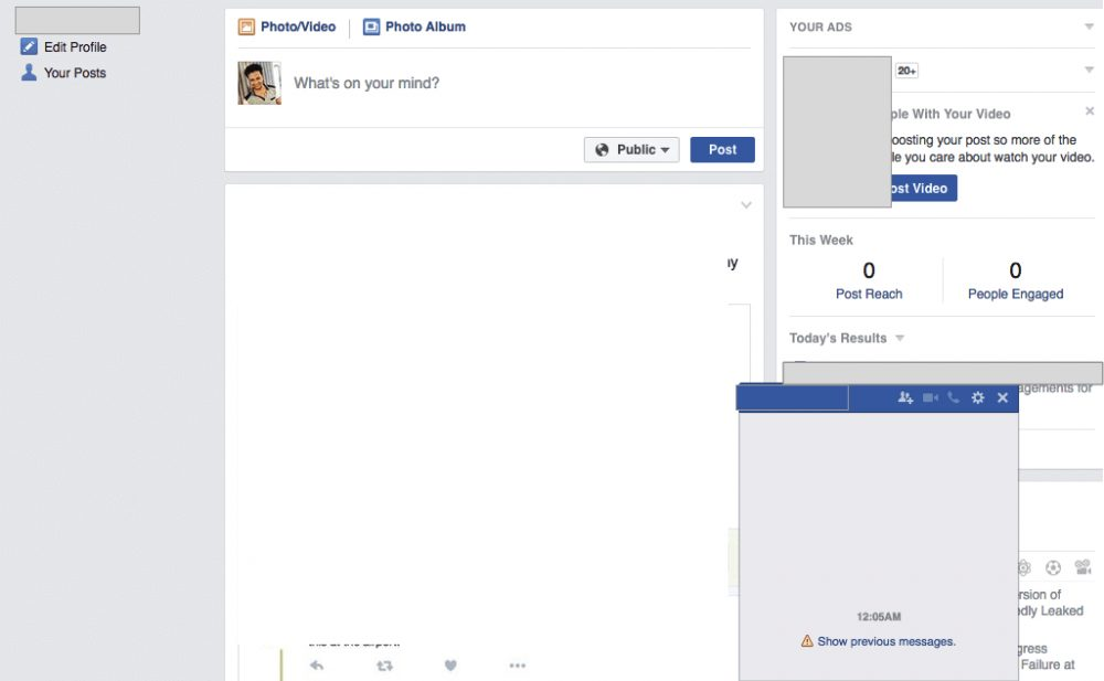 Facebook Website remains down with restricted features