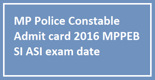 MP Police Constable Admit Card 2016 vyapam.nic.in