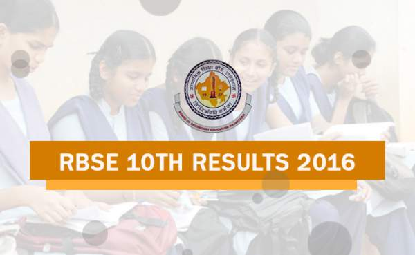 RBSE 10th Result 2016