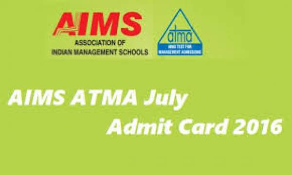 AIMS ATMA Admit Card 2016