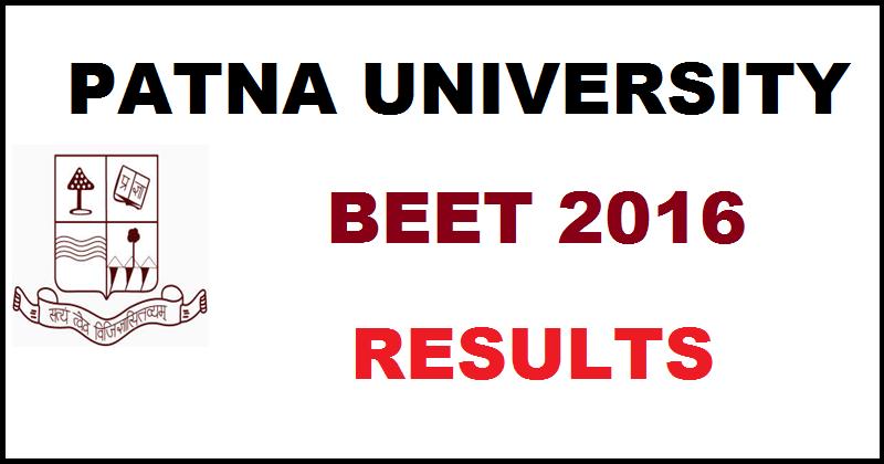 Patna University BEET Results 2016