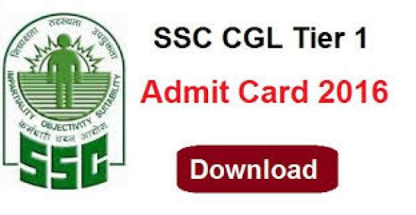 SSC CGL Tier 1 Admit Card 2016