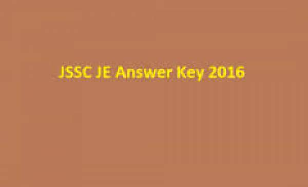 Jharkhand JSSC JE Mains Answer Key 2016