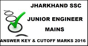 Jharkhand JSSC JE Mains Answer Key 2016