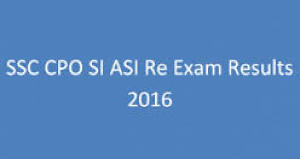 SSC CPO (SI/ASI) Result 2016