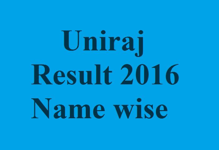 UNIRAJ Final Result 2016