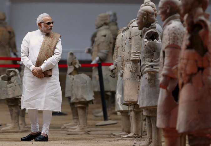 Modi was spotted in black sunglasses during his visit to China, making the moments irresistibly funny