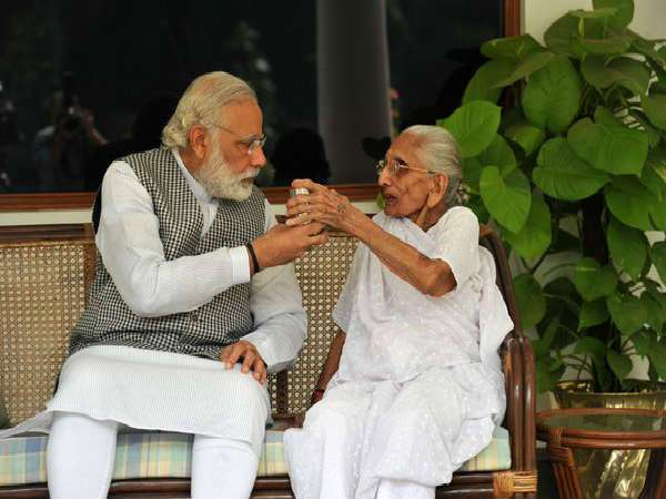 Narendra Modi has a special place in his heart for his mother. During a telecast with Facebook, he highlighted the time when his mother used to cook for him, burning her hands down. Her mother used to wash dishes for money.