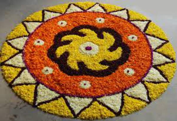Happy Onam 2016 Images Wallpapers, Onam Pookalam Rangoli Designs Pictures Photos