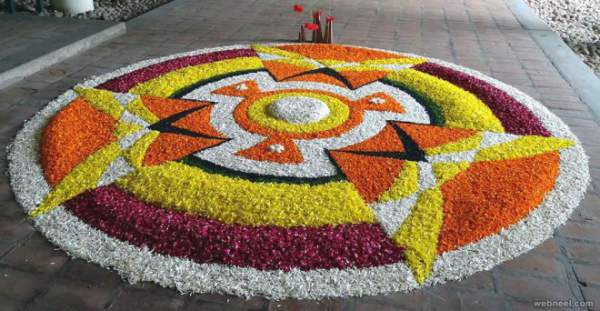 Happy Onam 2017 Images Wallpapers, Onam Pookalam Rangoli Designs Pictures Photos