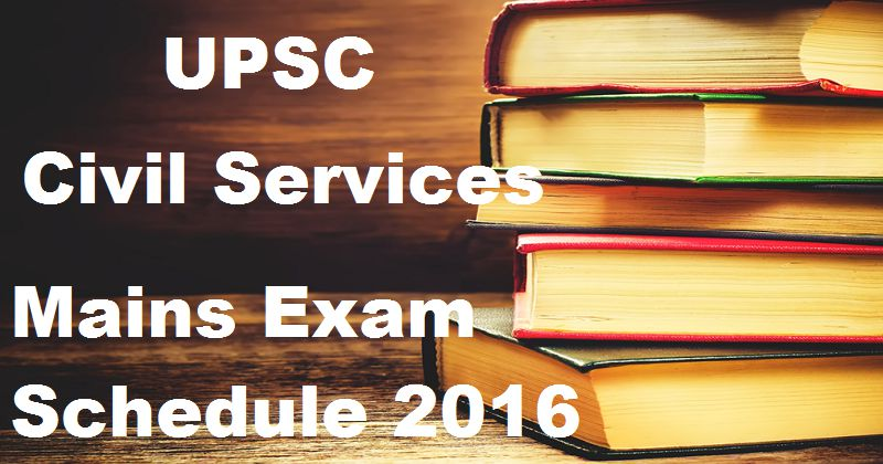 UPSC 2016 Main Examinations