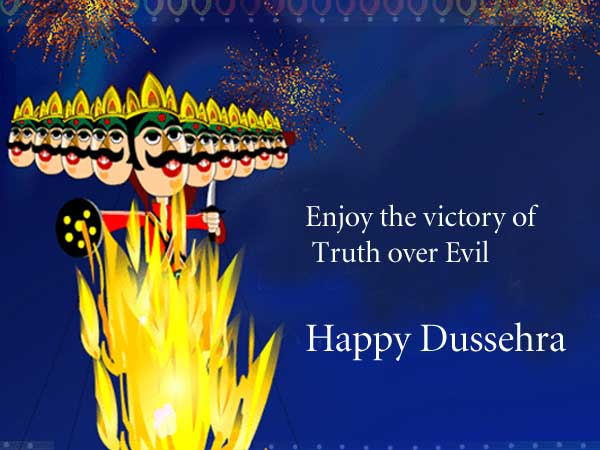 Happy Dussehra Status/ Greetings for WhatsApp, Twitter and Facebook