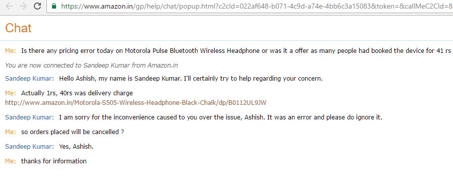 Amazon to cancel all Moto Headphone orders