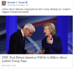 Donald Trump quoted CNN as 'Clinton News Network'